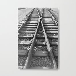 Train Track Switch Railroad Metal Print