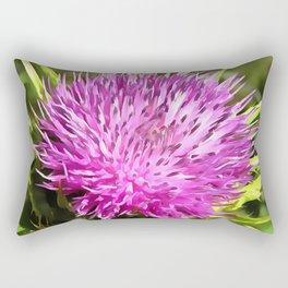 Purple Thistle Wildflower Rectangular Pillow