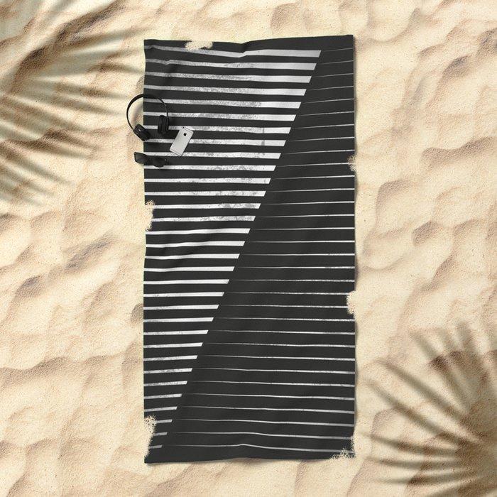 Black vs. White Beach Towel