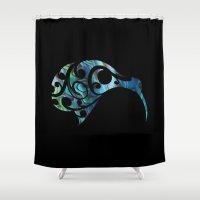kiwi Shower Curtains featuring Kiwi by Boz Designs