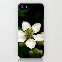 White blossoming flower photo iPhone Case