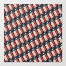 Texas flag vintage pattern Canvas Print