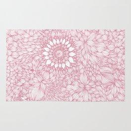 Grand floral pink Rug