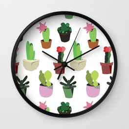 lovely cactus Wall Clock