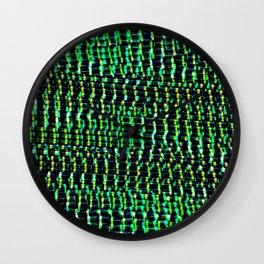 GREEN EYED STARE Wall Clock
