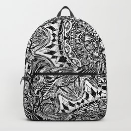 Black and white Mandala Backpack