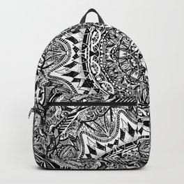 Black and white Mandala Backpack