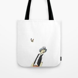 Spotted Crow and His Imagination Tote Bag