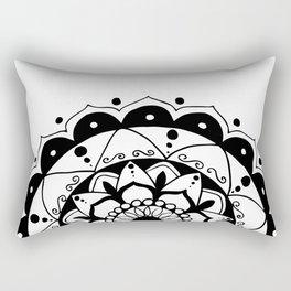 Zen black mandala on white Rectangular Pillow
