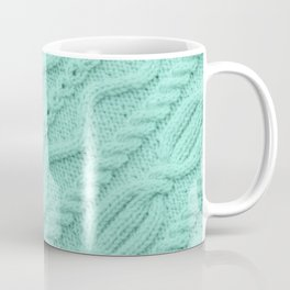 Seafoam Mint Cableknit Coffee Mug