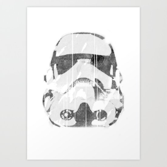 Watermark Stormtrooper Art Print