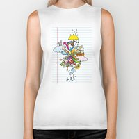 notebook Biker Tanks featuring Notebook World by Duru Eksioglu