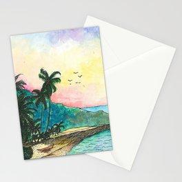 San Blas sunset Stationery Cards