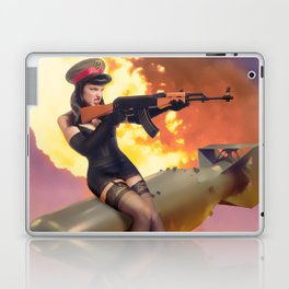 """Sovietsky by Air"" - The Playful Pinup - Missile Russian Pin-up Girl by Maxwell H. Johnson Laptop & iPad Skin"