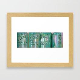 Ideal Mason Ball Jar Art Framed Art Print