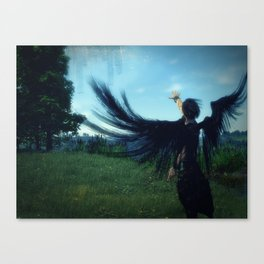 City on the Far Side of the Sky Canvas Print