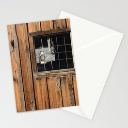 Rustic Cabin Window With Oil Lantern Stationery Cards
