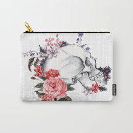 Roses Skull - Death's head Carry-All Pouch