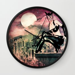at night in the city  Wall Clock