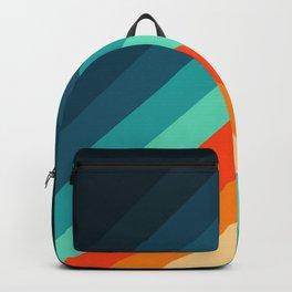Retro Aesthetic Vintage Chevron Geometric Pattern Backpack