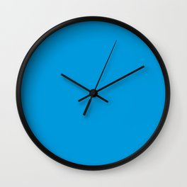 PLAIN SOLID FLUORESCENT BLUE - NEON BLUE  Wall Clock