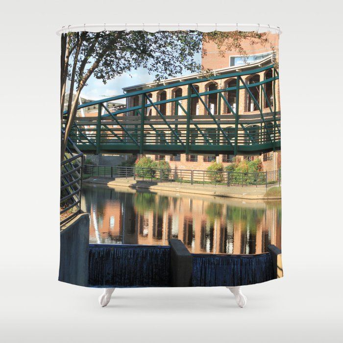 Red Brick Reflections Shower Curtain