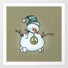 Snowman {Peaceful} Art Print