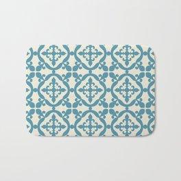 Moroccan tile - blue, beige Bath Mat