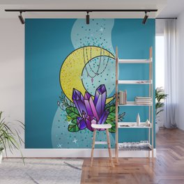 Mystical Crystals and Moon Wall Mural