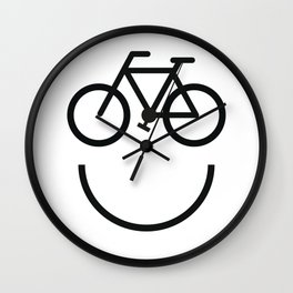 Bike face, bicycle smiley Wall Clock