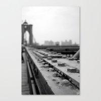 brooklyn bridge Canvas Prints featuring Brooklyn Bridge by Alane Gianetti
