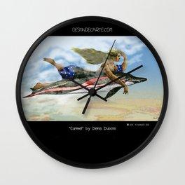 """Carmel"" Illustration Denis Dubois Wall Clock"