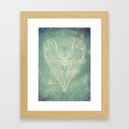 Battered Vintage Heart Framed Art Print