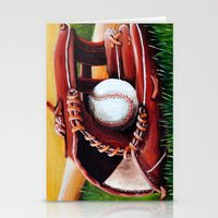 baseball Stationery Cards featuring Baseball by A Calcines