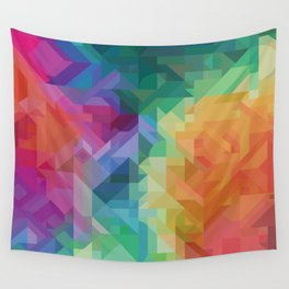 RAINBOW MULTI COLOR GEOMETRIC PRINT Wall Tapestry