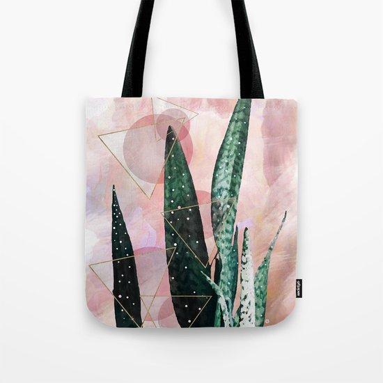 Plant circles & triangles Tote Bag