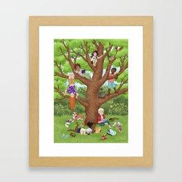 Friendship Tree Framed Art Print