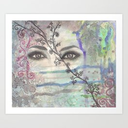 Mermaids Are Watching  Art Print