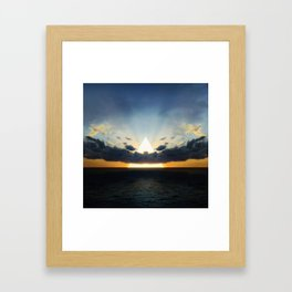 Abstract Environment 03: Volcano Framed Art Print