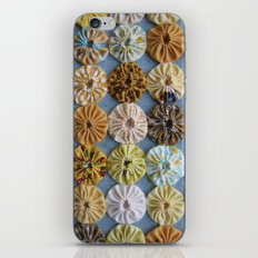 Quilted Yoyos in Yellow pattern by robayre iPhone & iPod Skin