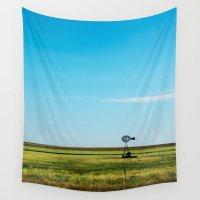 kansas Wall Tapestries featuring Kansas Skyline by Marie Apel