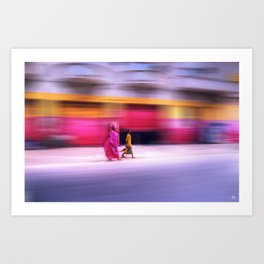 In Sync in Senegal Art Print