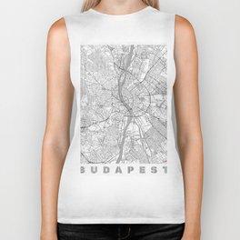 Budapest Map Line Biker Tank