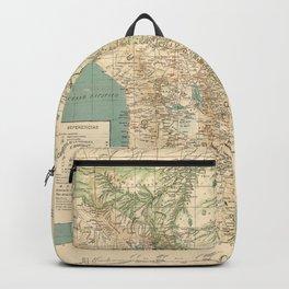 Vintage Map of Bolivia (1905) Backpack