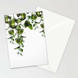 Eucalyptus green branches Stationery Cards