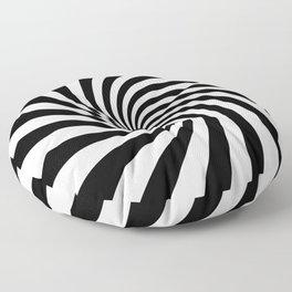 Swirl (Black/White) Floor Pillow