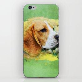 Beagle dog digital art iPhone Skin