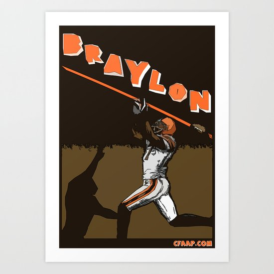 "Braylon Edwards ""Drop"" Poster Art Print"