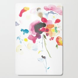 Abstract Bouquet Cutting Board