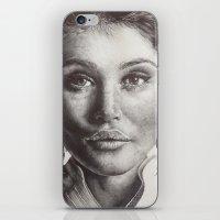 gemma correll iPhone & iPod Skins featuring Gemma  by Lucy Schmidt Art